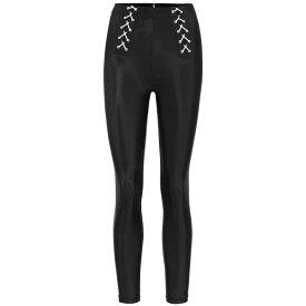 アダム セルマン Adam Selman Sport レディース スパッツ・レギンス レースアップ インナー・下着【Lace-up high-rise leggings】Black
