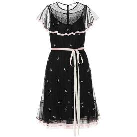 レッド ヴァレンティノ REDValentino レディース ワンピース ワンピース・ドレス【Embroidered minidress】Nero