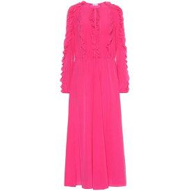 レッド ヴァレンティノ REDValentino レディース ワンピース ワンピース・ドレス【Ruffled silk dress】Pink Planet