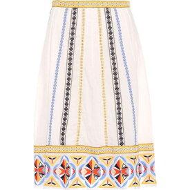 トリー バーチ Tory Burch レディース スカート 【Adriana embroidered cotton skirt】New Ivory