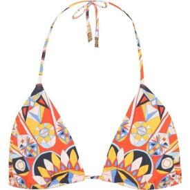 トリー バーチ Tory Burch レディース トップのみ 水着・ビーチウェア【Kaleidoscope bikini top】Sweet Tangerine