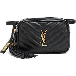 イヴ サンローラン Saint Laurent レディース ボディバッグ・ウエストポーチ バッグ【lou leather belt bag】Nero