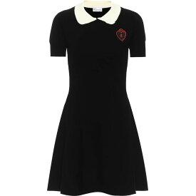 レッド ヴァレンティノ REDValentino レディース ワンピース ワンピース・ドレス【Appliqued stretch-knit minidress】Nero Latte