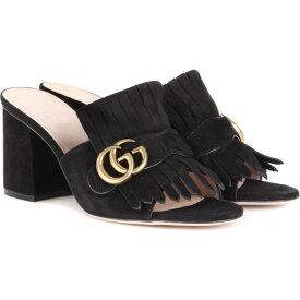 グッチ Gucci レディース サンダル・ミュール シューズ・靴【Marmont suede sandals】Nero