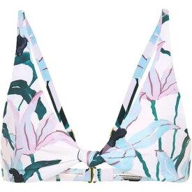トリー バーチ Tory Burch レディース トップのみ 水着・ビーチウェア【floral knot-front bikini top】desert bloom white ground