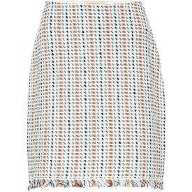 トリー バーチ Tory Burch レディース スカート 【hollis linen and cotton-blend skirt】New Ivory