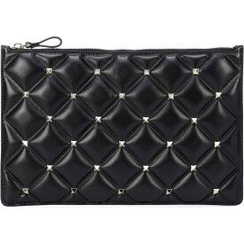 ヴァレンティノ Valentino レディース クラッチバッグ バッグ【Garavani Candystud Leather Clutch】Black