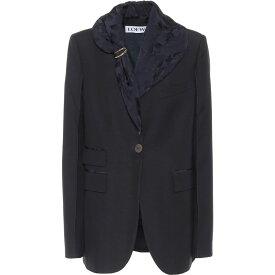 ロエベ Loewe レディース スーツ・ジャケット アウター【Embellished Wool Blazer】Navy