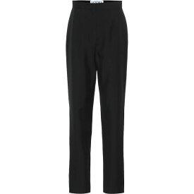 ロエベ Loewe レディース ボトムス・パンツ 【High-Rise Wool Pants】Navy