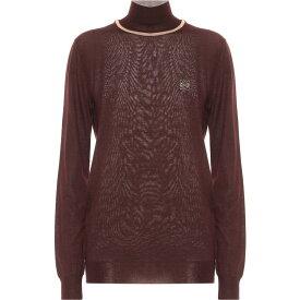 ロエベ Loewe レディース ニット・セーター トップス【Cashmere Turtleneck Sweater】Burgundy