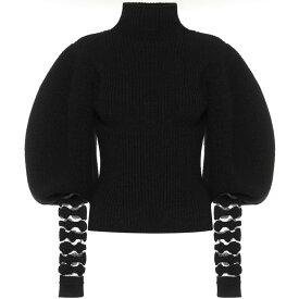 ロエベ Loewe レディース ニット・セーター トップス【Ribbed Knit Alpaca And Wool Turtleneck Sweater】Black