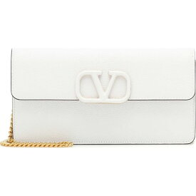 ヴァレンティノ Valentino レディース クラッチバッグ バッグ【Garavani Vsling Small Leather Clutch】White