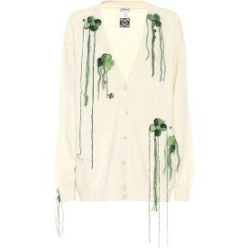 ロエベ Loewe レディース カーディガン トップス【Embroidered Wool Cardigan】Off-White