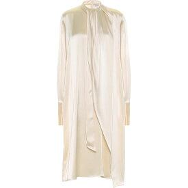 ロエベ Loewe レディース ワンピース ミドル丈 ワンピース・ドレス【Satin Midi Dress】Ivory