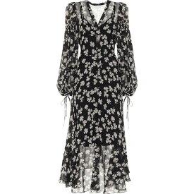 ロエベ Loewe レディース ワンピース ワンピース・ドレス【Printed Silk Dress】Black/Ivory
