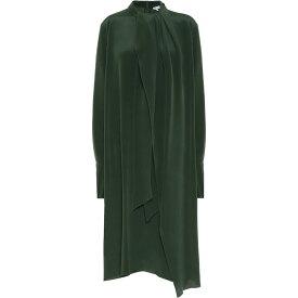 ロエベ Loewe レディース ワンピース ミドル丈 ワンピース・ドレス【Satin Midi Dress】Forest Green