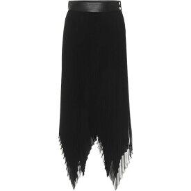 ロエベ Loewe レディース ひざ丈スカート スカート【High-Rise Georgette Midi Skirt】Black