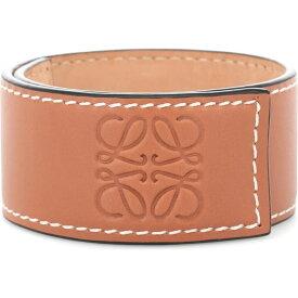 ロエベ Loewe レディース ブレスレット ジュエリー・アクセサリー【Anagram Leather Snap Bracelet】Tan
