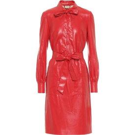 マーク ジェイコブス Marc Jacobs レディース ワンピース ワンピース・ドレス【The Leatherette Faux Leather Shirt Minidress】Red