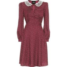 マーク ジェイコブス Marc Jacobs レディース ワンピース ワンピース・ドレス【The Berlin Polka-Dot Minidress】Burgundy