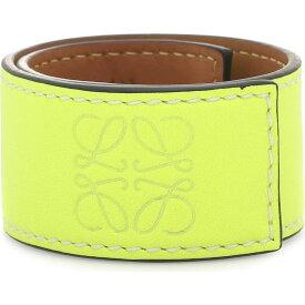 ロエベ Loewe レディース ブレスレット ジュエリー・アクセサリー【Anagram Leather Snap Bracelet】Neon Yellow