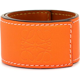 ロエベ Loewe レディース ブレスレット ジュエリー・アクセサリー【Anagram Leather Snap Bracelet】Neon Orange