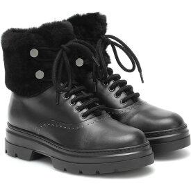 マックスマーラ Max Mara レディース ブーツ シアリング シューズ・靴【Harish Shearling And Leather Boots】