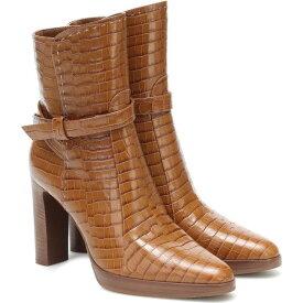 マックスマーラ Max Mara レディース ブーツ ショートブーツ シューズ・靴【Adee Croc-Effect Leather Ankle Boots】