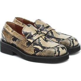 マルニ Marni レディース ローファー・オックスフォード シューズ・靴【Snake-Effect Leather Loafers】