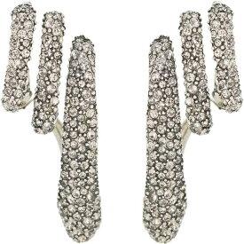 アレキサンダー マックイーン Alexander McQueen レディース イヤリング・ピアス ジュエリー・アクセサリー【Crystal-Embellished Silver-Plated Cuff Earrings】