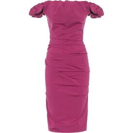 メゾン マルジェラ Maison Margiela レディース ワンピース ミドル丈 ワンピース・ドレス【off-shoulder ruched midi dress】Purple