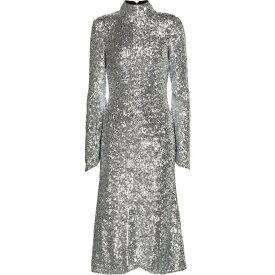 レベッカ ヴァランス Rebecca Vallance レディース パーティードレス ミドル丈 ワンピース・ドレス【gatsby sequined midi dress】Silver