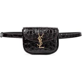イヴ サンローラン Saint Laurent レディース ボディバッグ・ウエストポーチ バッグ【Kaia croc-effect leather belt bag】Fondente