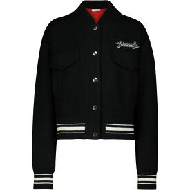 ジバンシー Givenchy レディース ブルゾン ミリタリージャケット アウター【embroidered wool bomber jacket】Black/White