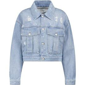ジバンシー Givenchy レディース ジャケット デニムジャケット アウター【cropped denim jacket】Light Blue