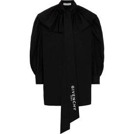 ジバンシー Givenchy レディース ブラウス・シャツ トップス【cotton poplin blouse】Black