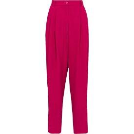 ドルチェ&ガッバーナ Dolce & Gabbana レディース ボトムス・パンツ テーパードパンツ【High-rise tapered stretch-crepe pants】Lampone