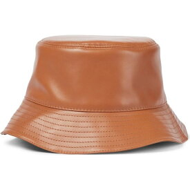 ロエベ LOEWE レディース ハット バケットハット 帽子【Anagram leather bucket hat】Tan