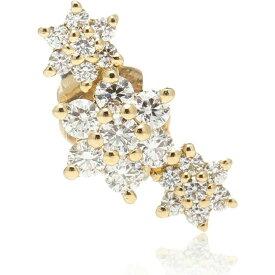 マリアタシュ Maria Tash レディース イヤリング・ピアス ジュエリー・アクセサリー【Three Flower Garland 14kt gold single earring with diamonds】