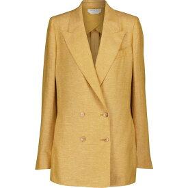 ガブリエラ ハースト Gabriela Hearst レディース スーツ・ジャケット アウター【Thomas cashmere and linen blazer】Butter Yellow