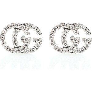 グッチ Gucci レディース イヤリング・ピアス ジュエリー・アクセサリー【Running G 18kt gold and diamond earrings】