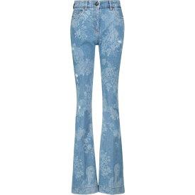 エトロ ETRO レディース ジーンズ・デニム ボトムス・パンツ【Floral high-rise flared jeans】Blu