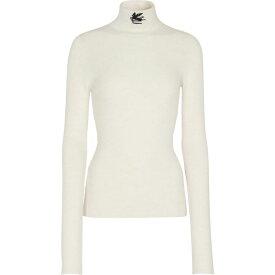 エトロ ETRO レディース ニット・セーター タートルネック トップス【Wool turtleneck sweater】Bianco