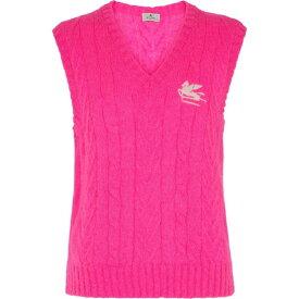 エトロ ETRO レディース ベスト・ジレ トップス【Mohair-blend sweater vest】Pink