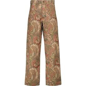 エトロ ETRO レディース ジーンズ・デニム ボトムス・パンツ【Paisley high-rise wide-leg jeans】Arancio