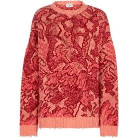 エトロ ETRO レディース ニット・セーター トップス【Floral wool sweater】Rosso