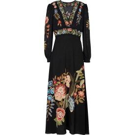 エトロ ETRO レディース ワンピース マキシ丈 ワンピース・ドレス【Floral stretch-crepe maxi dress】Blu