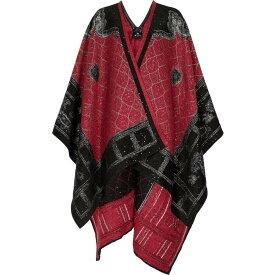 エトロ ETRO レディース ポンチョ アウター【Embellished paisley jacquard cape】Nero