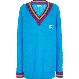 エトロ ETRO レディース ニット・セーター トップス【Mohair-blend sweater】Azzurro