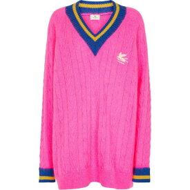 エトロ ETRO レディース ニット・セーター ケーブルニット トップス【Cable-knit mohair-blend sweater】Rosa